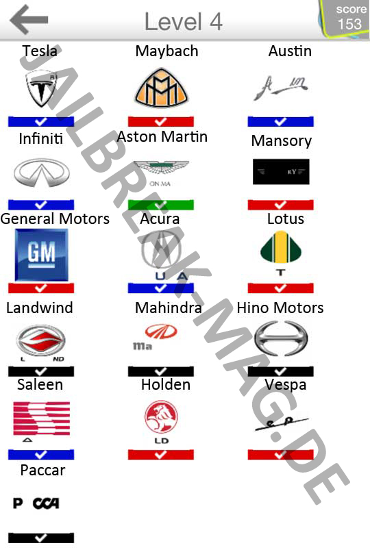 logo quiz cars answers level 4 - DriverLayer Search Engine