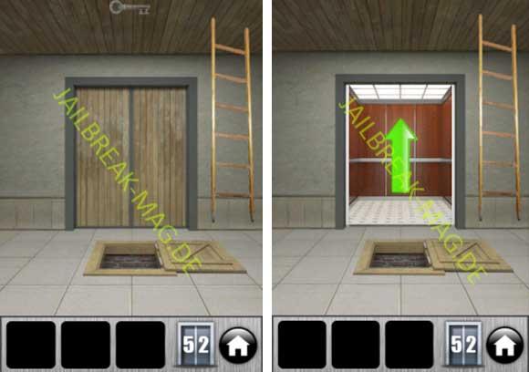 Level 52 Lösung für 100 Doors 2013