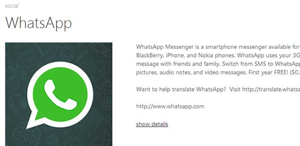 WhatsApp für Windows Phone 8 ist da!