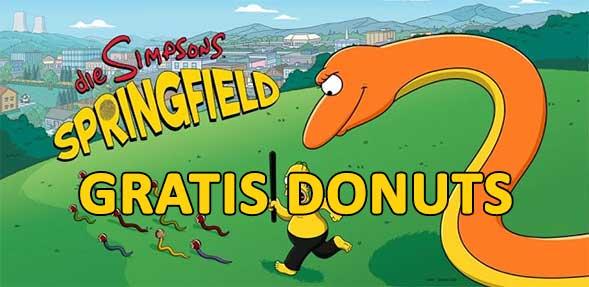 Simpsons Springfield gratis Donuts bekommen