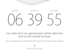 Countdown zur Apple Keynote am 9.9.2014 für iPhone 6 läuft
