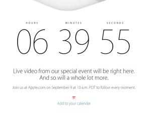 Countdown zur Apple Keynote am 9.9.2014 für iPhone 6 läuft