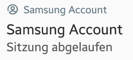 Samsung Sitzung Abgelaufen