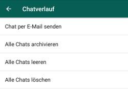 Chatverlauf exportieren und per E-Mail weiterleiten