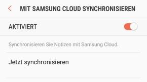 Notizen aus Samsung Notes synchronisieren
