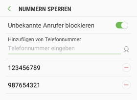 Android blockierten Kontakt freigeben