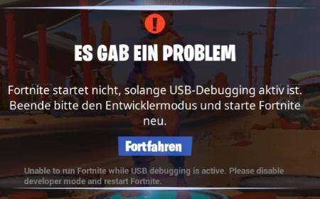 Fortnite Mobile Es gab ein Problem