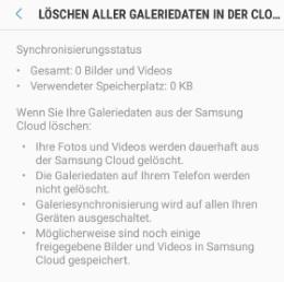 Samsung Cloud Löschen