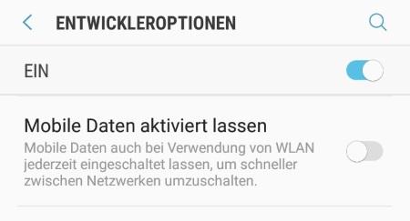 WLAN und mobile Daten gleichzeitig