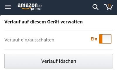Amazon-App Verlauf löschen