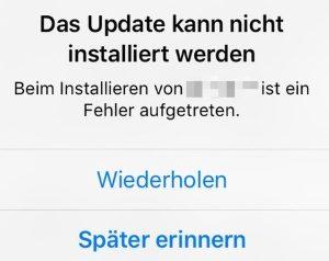 iOS 12 lässt sich nicht installieren