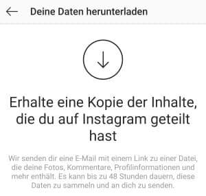 Instagram Chats exportieren