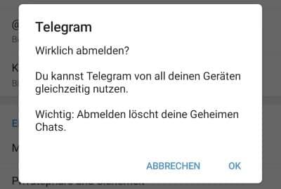 Telegram Abmelden