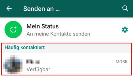 Iphone whatsapp liste häufig kontaktiert löschen